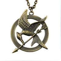 Fashion Vintage Hunger Games Necklace Men And Women Wholesale~Free Shipping,N152(JK Fashion)