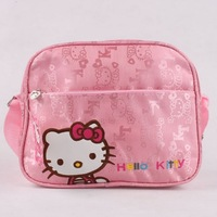 KT8014 New Fashion 2014 Hello Kitty Brand Designer Girls Messenger Bag High Quality Mochilas School Kids Bags