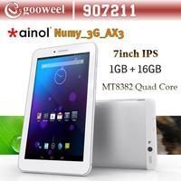 Ainol AX3 3G 7 inch  GPS Android 4.2 Tablet PC MTK8382 Quad Core 1GB+16GB Dual Camera FM 1024*600pix  3G WCDMA
