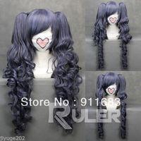 2014 NEW 70cm X Long ASH-Ciel Phantomhive Anime Cosplay Wig + 2 Clip On Ponytail