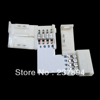 5x 4 pin LED Connector L Shape For 10mm 3528 5050 LED Strip RGB Single Color #1  free shipping