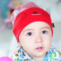2014 newest design 1 pcs stripe kitty infant beanies Kids caps Cotton Beanie Infant cap children hats H32