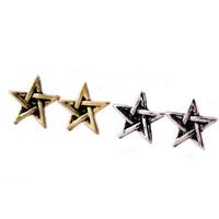 2014 New Arrival 5 Pairs/Lot Vintage Star Stud Earrings Jewelry Bijouterie For Women N027