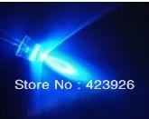 LED F5 blu-ray PuLiang straw hat light round head 5 mm blue light-emitting diode