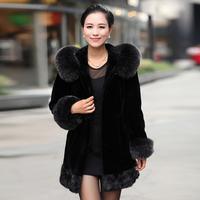 2013 fur coat fox fur fight mink female marten overcoat