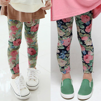 2014 spring and autumn flower girls clothing baby child legging long trousers