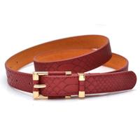 Strap female all-match fashion genuine leather belt crocodile pattern thin belt women's belt
