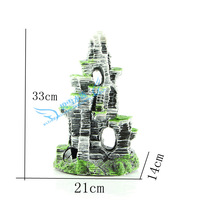 Rockery plants aquarium fish tank decorative landscaping landscaping defense really resin cylinder bonsai rockery