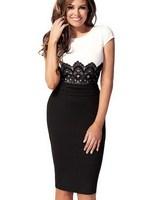 2014 New Summer Women Ladies Clothing Patchwork Dresses Short Sleeve Dress Vestidos, S, M, L, XL