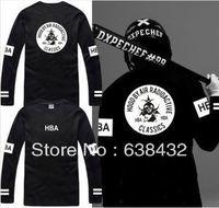 ree shipping 2014 hot sale HBA printed t shirt Hood By Air HBA RADIOACTIVE CLASSICS tshirt 100% cotton long sleeve tee 6 color
