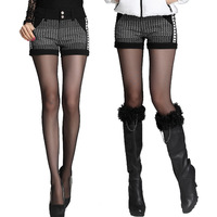 Spring 2014 Korean  Style Women's casual Skinny Low waist Elastic Girls sexy  female shorts  #8330