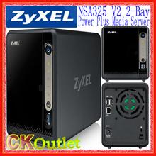 Brand New ZyXEL NSA325v2 2-Bay High Perfromance Multi Media Cloud Server Bulk NAS Support upto 2x4TB w/1 Year Warranty(Free Gift(China (Mainland))