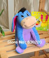 Classic Toys Winnie Cartoon serise Blue Eeyore donkey Stuffed Animals Plush Lovely Dolls for Children 20cm 8inch free shipping