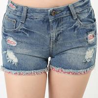Verao Women 2014 Ladies Shots Denim Skort Shorts For Feminino Summer Plus Size Female Distressed Shortes Jeans Short S333