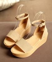 2014 shoes new women platform shodes sandals in summer female open toe shoe high-heeled shoes wedges shoes women's sandals