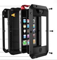 Tri-proof Phone cases waterproof Shockproof Dirtproof Drop proof Metal Aluminum Hard Case Cover Skin For Apple iPhone 5 5S