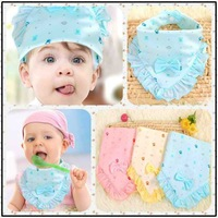 6pcs/lot Baby Products/Baby Bibs/Infant Saliva Towels /Baby CottonTied Bib/Lovely Corner Bib Cloths/Burp Cloths