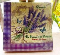 20 PCS/Pack  Vintage Color Paper Napkin Party 100% Virgin Wood Paper Napkin Pattern 8