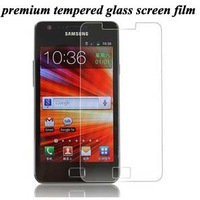 New arrival For Samsung galaxy s2 i9100 premium tempered glass screen protective film, i9100 screen protector guard,retail pack