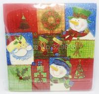 1 Pack 20 PCS Christmas Series Colorful Party Paper Napkin 33X33CM Pattern 4
