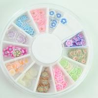 12 Color Plum blossom Nail Art Tips Decoration Wheel