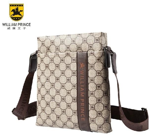 Famous brand William Prince men's business shoulder bag korea style male canvas handbag vintage messenger bag Free shipping!(China (Mainland))