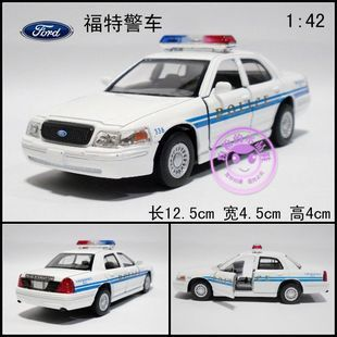 Soft world alloy car model FORD police car toy ford 911 double door(China (Mainland))