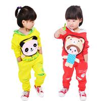 Children's clothing 2014 spring and autumn reversible set male female child children sweatshirt sportswear set