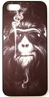 Cool Smoking Monkey Phone Case Cover For iPhone 5 and iPhone 5S