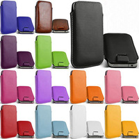 Free Shipping 13 Colors Pull Up Rope Slim PU Leather Pouch phone bags cases for Feiteng HTM H80W Cell Phone Accessories bag