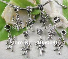 80pcs Tibetan Silver Cupid Eros Beads European Charms Bracelet Jewelry Diy Jewelry Findings 34x12 5mm