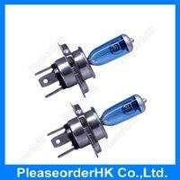 2x New Car Halogen Xenon H4 6000K Bulbs P43T Light Super White Low Beam 12V 60/55W