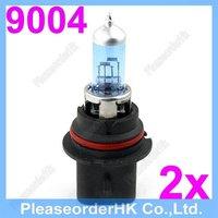 New 2pcs Halogen Xenon 9004 HB1 Auto Light Bulb Lamp Super White 6000K 12V 100 80W Low Beam