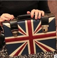 2014  Free shipping+hot sale fashion UK flag printed canvas bag shoulder bag leisure bag handbag