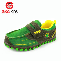 Bkg children shoes spring leather casual sports shoes teenage velcro male child girls shoes