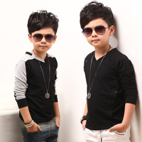 Child basic shirt plus velvet children's clothing male spring 2014 long-sleeve T-shirt thickening