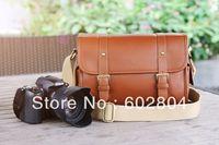 Wholesale! camera shoulder bag imitation leather bag message big bag for 1000D 600D 650D 700D KX KR D7000 D5200 DSLR camera bag