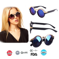New Brand Metal Top Keyhole Round Sunglasses UV400 Glasses Mirror Sun Glasses Free Shipping S-045