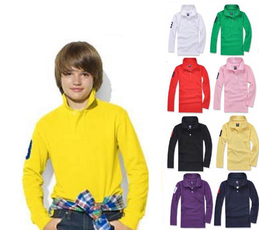 Boys T shirt Clothing Long-sleeve New Spring Autumn Cotton kids tennis Shirt children Girls Shirts drop shipping(China (Mainland))