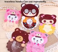 Free Shipping Silicone Creative Sucker Sticks  Magic traceless hooks to hang coat Hook wholesale Repeat use Style randomly send