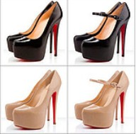 Single 2015 ultra high heels single shoes red sole fashion popular hot-selling thin heels shoes