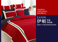 Reactive print bedding set king size new arrival red home textile high qualiyu european bed sheet bed cover set