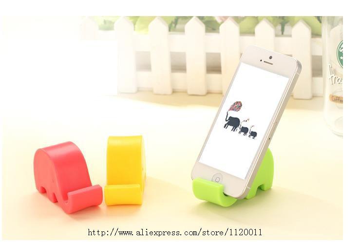 Creative cute elephant shape phone holder Elephant nose phone holder fit for ipad mini/lazy mobile holder bed(China (Mainland))