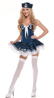 Women Girl Blue White Hot Sexy Costumes Marine Sailor Costume Dress Role Playing Club Party Dancer Wear Uniform Halloween