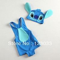 Blue Stitch piece swimsuit child swimsuit baby girls and boys swimwear kids swimwear children