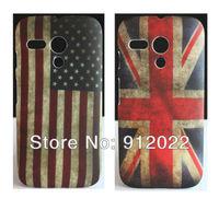 2X Retro USA/UK Flag Design Hard Skin Cover Case FOR Motorola Moto G +Free Screen