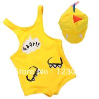 Cute child swimsuit 2014 piece swimsuit baby boy baby dinosaur modeling swimwear Spa