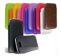 Free Shipping New 13 Colors Pull Up Rope Slim PU Leather Pouch phone bags cases for zte geek v975 Cell Phone Accessories bag