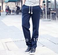 2014 new arrive casual Straight Korean men 60% cotton pants sports,wholesale big size M-XXL 3 colors