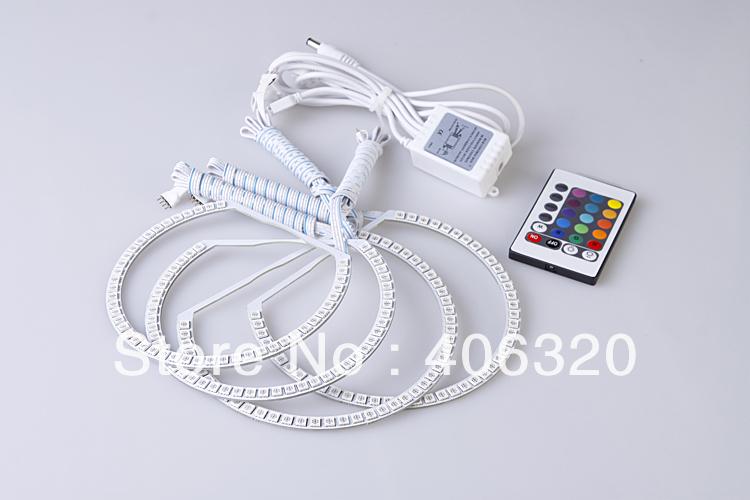 4X can change color led Angel Eyes kit for BMW E30 E32 E34 LED angel eyes kit Free shipping(China (Mainland))